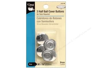 half ball cover buttons: Cover Buttons by Dritz Half Ball 7/8 in. 3 pc.