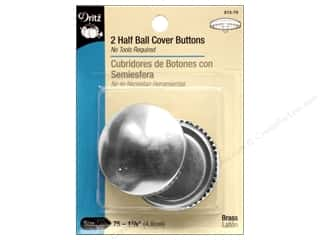 half ball cover buttons: Cover Buttons by Dritz Half Ball 1 7/8 in. 2 pc.