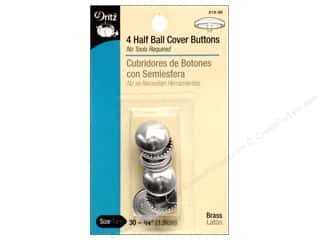 Buckles Bulk & Cover Buttons: Cover Buttons by Dritz Half Ball 3/4 in 4 pc.