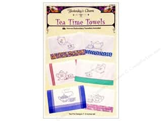 Tea & Coffee Charms: Yesterday's Charm Tea Time Towels Pattern