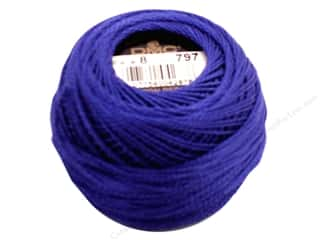 DMC Pearl Cotton Ball Size 8 #797 Royal Blue (10 balls)