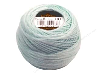DMC Pearl Cotton Ball Size 8 #747 Very Light Sky Blue (10 balls)