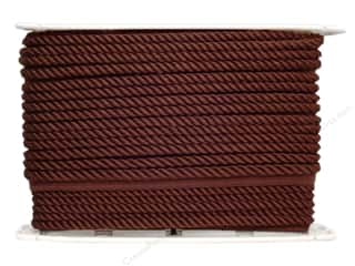 "Conso Conso Princess Twisted Cord 3/8"": Conso Princess Cord with Lip 3/8"" Sable Brown (24 yards)"