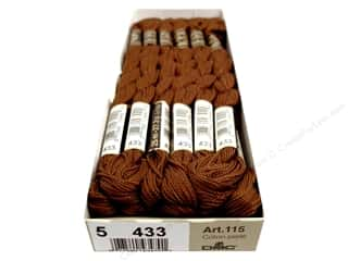 Pearl Cotton DMC Pearl Cotton Skein Size 5: DMC Pearl Cotton Skein Size 5 #433 Medium Brown (12 skeins)