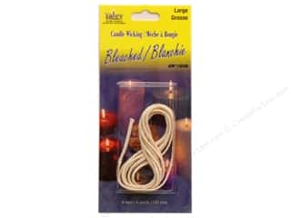 Candlemaking Yaley Wick: Yaley Wick Bleached Flat Braid Large 4'