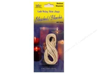 Candlemaking Yaley Wick: Yaley Wick Bleached Flat Braid Medium 6'