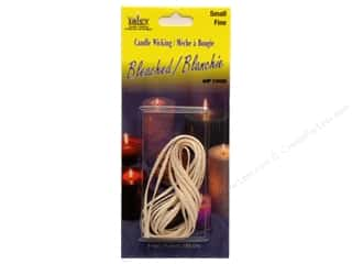 Candlemaking Yaley Wick: Yaley Wick Bleached Flat Braid Small 6'