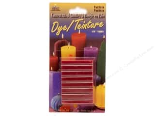 Yaley Candle Making Supplies: Yaley Candle Dye Block .75oz Fuchsia