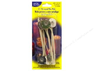 "Candlemaking Yaley Wick: Yaley Wick & Clip Prewaxed Wire 3.5"" 20mm 12pc"