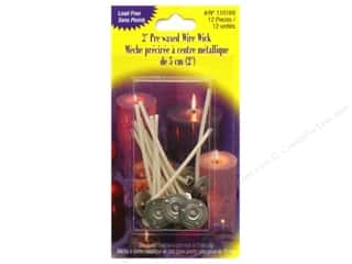 "Craft & Hobbies Candlemaking: Yaley Wick & Clip Prewaxed Wire 2"" 15mm 12pc"