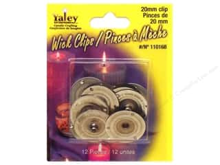 Candlemaking 20mm: Yaley Wick Accessories Clip Round 20mm 12pc