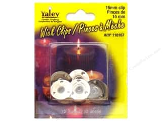 Yaley Wick Accessories Clip Round 15mm 12pc