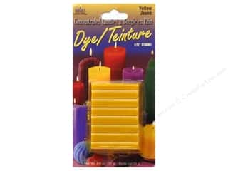Yaley Craft Home Decor: Yaley Candle Dye Block 3/4oz Yellow
