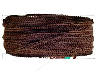 "Trims Brown: Conso Princess Rayon French Gimp 1/2"" Sable Brown (36 yards)"