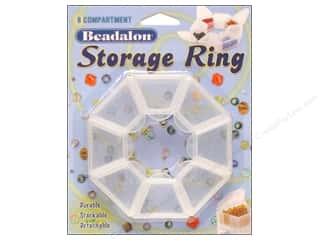 Beadalon Organizer Storage Ring 8 Compartment
