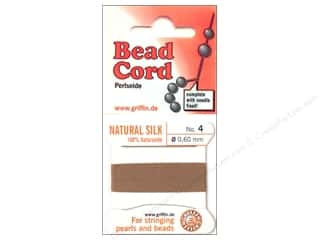 Clearance Blumenthal Favorite Findings: Beadalon Bead Cord 100% Silk Size 4 Beige 2M