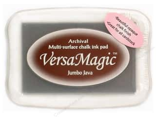 Tsukineko Brown: Tsukineko VersaMagic Large Chalk Pigment Ink Stamp Pad Jumbo Java
