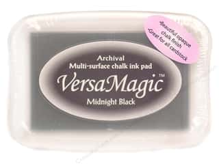 Rubber Stamping Black: Tsukineko VersaMagic Large Chalk Pigment Ink Stamp Pad Midnight Black