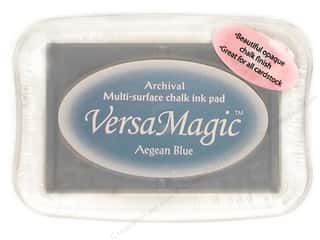 Cards & Envelopes  2.5 x 2.5: Tsukineko VersaMagic Large Chalk Pigment Ink Stamp Pad Aegean Blue
