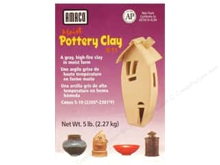 Clay & Modeling 1.75 lb: AMACO Moist Pottery Clay 5 lb.