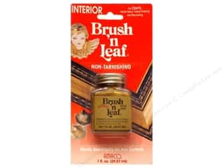 Metallic Leafing AMACO Brush 'n Leaf Interior: AMACO Brush 'n Leaf Interior 1 oz. Gold Leaf