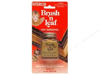 Metallic Leafing AMACO Brush 'n Leaf Interior: AMACO Brush 'n Leaf Interior 1 oz. Antique Gold