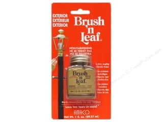 Y: AMACO Brush n Leaf Exterior 1 oz. Brass Gold