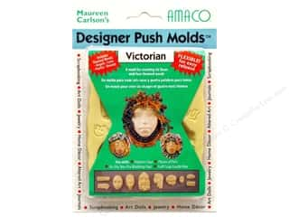 Designer Sale: AMACO Designer Push Mold Faces/Words Victorian