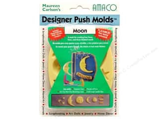 AMACO Designer Push Mold Faces/Words Moon
