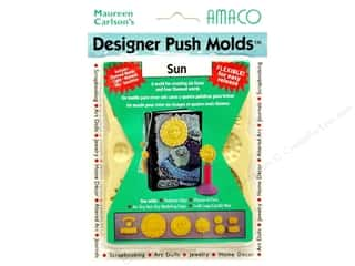 Designer Sale: AMACO Designer Push Mold Faces/Words Sun