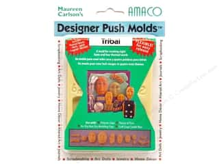 AMACO Designer Push Mold Faces/Words Tribal