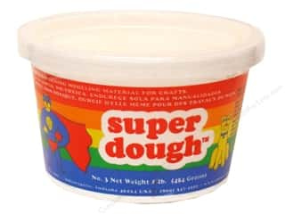 Clay & Modeling 1.75 lb: AMACO Super Dough 1 lb. White