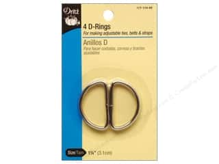 "Purses 14"": D Rings by Dritz 1 1/4 in. Nickel 4pc."