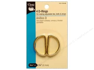 Buckles d ring: D Rings by Dritz 1 1/4 in. Gilt 4pc.