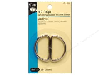 "Dritz D Rings 1.5"" Nickel 4pc"