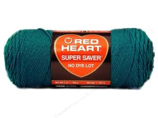 Red Heart Super Saver Yarn #0656 Real Teal 7 oz.