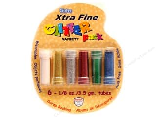 Sulyn Glitter Variety Pack 11/8oz X Fine 6pc Basic