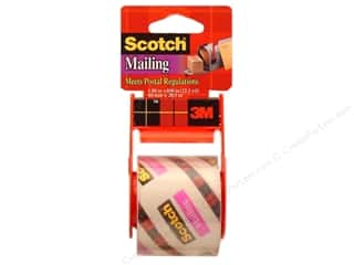 Office Tapes: Scotch Mailing Tape 1 7/8 x 800 in. Clear with Dispenser