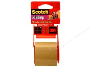 Office Tapes: Scotch Mailing Tape 1 7/8 x 800 in. Tan with Dispenser