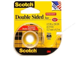 "Double-sided Tape: Scotch Tape Double Stick 1/2""x 250"""
