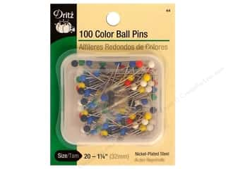 Dritz Pins Large Color Ball Head Size 20 Steel 100pc