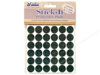 Page Protectors Protective Dots/Protective Pads: CPE Stick It Pads Felt Dots Kelly Green (3 packages)
