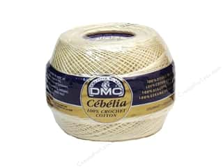 lace yarn: DMC Cebelia Crochet Cotton Size 30 #739 Cream