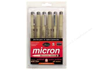 Sakura Pigma Micron Pen Set Black 6pc
