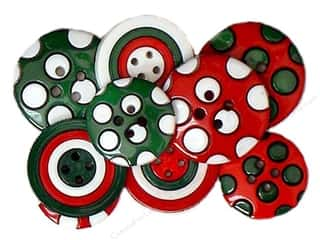button: Jesse James Embellishments Colors of Christmas