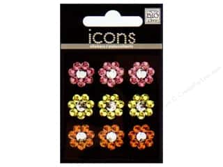 MAMBI Sticker Rhinestone Icon Flowers