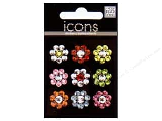 MAMBI Sticker Rhinestone Icon Flower Multi