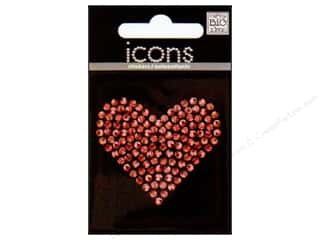 MAMBI Sticker Rhinestone Icon Heart Red