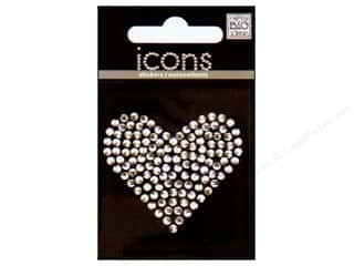 MAMBI Sticker Rhinestone Icon Heart Clear