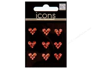 MAMBI Sticker Rhinestone Icon Hearts Reds